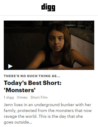 Monsters is on Digg